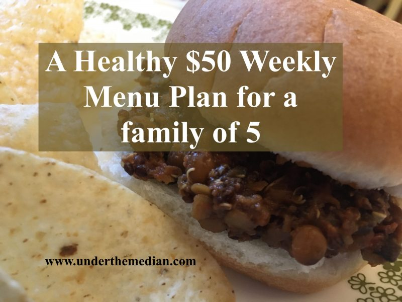 $50 Weekly Family Healthy Food Plan