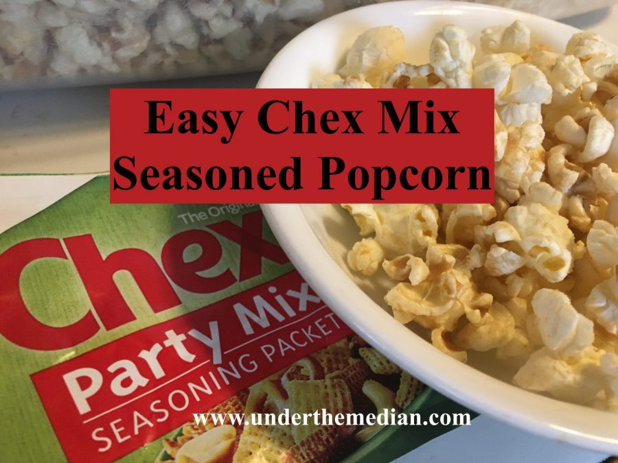 Easy Chex Mix Flavored Popcorn