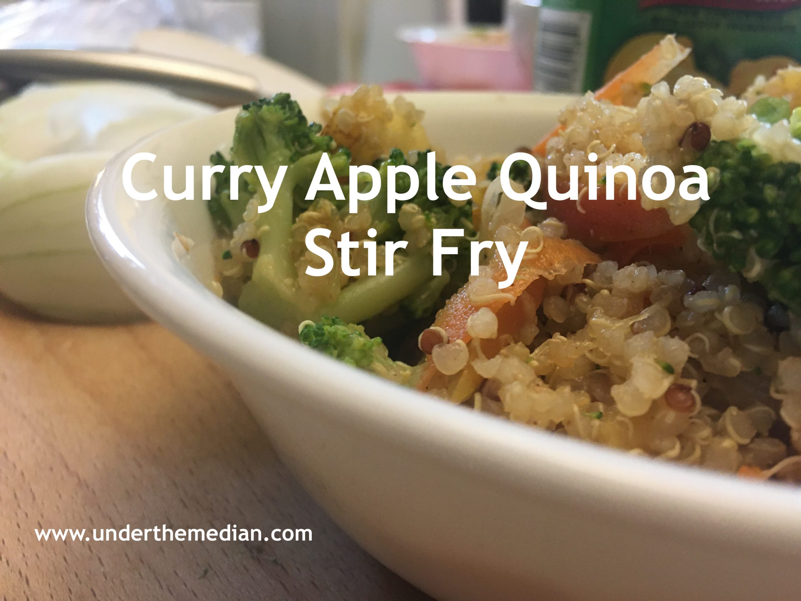 Curry Apple Quinoa Stir Fry