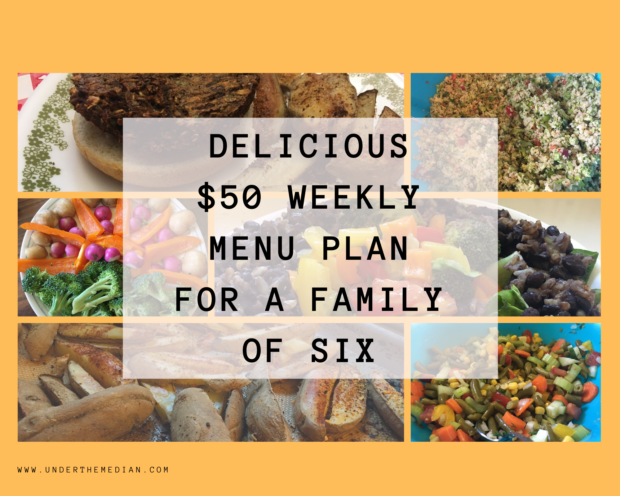 Delicious $50 Weekly Menu Plan for a Family of 6