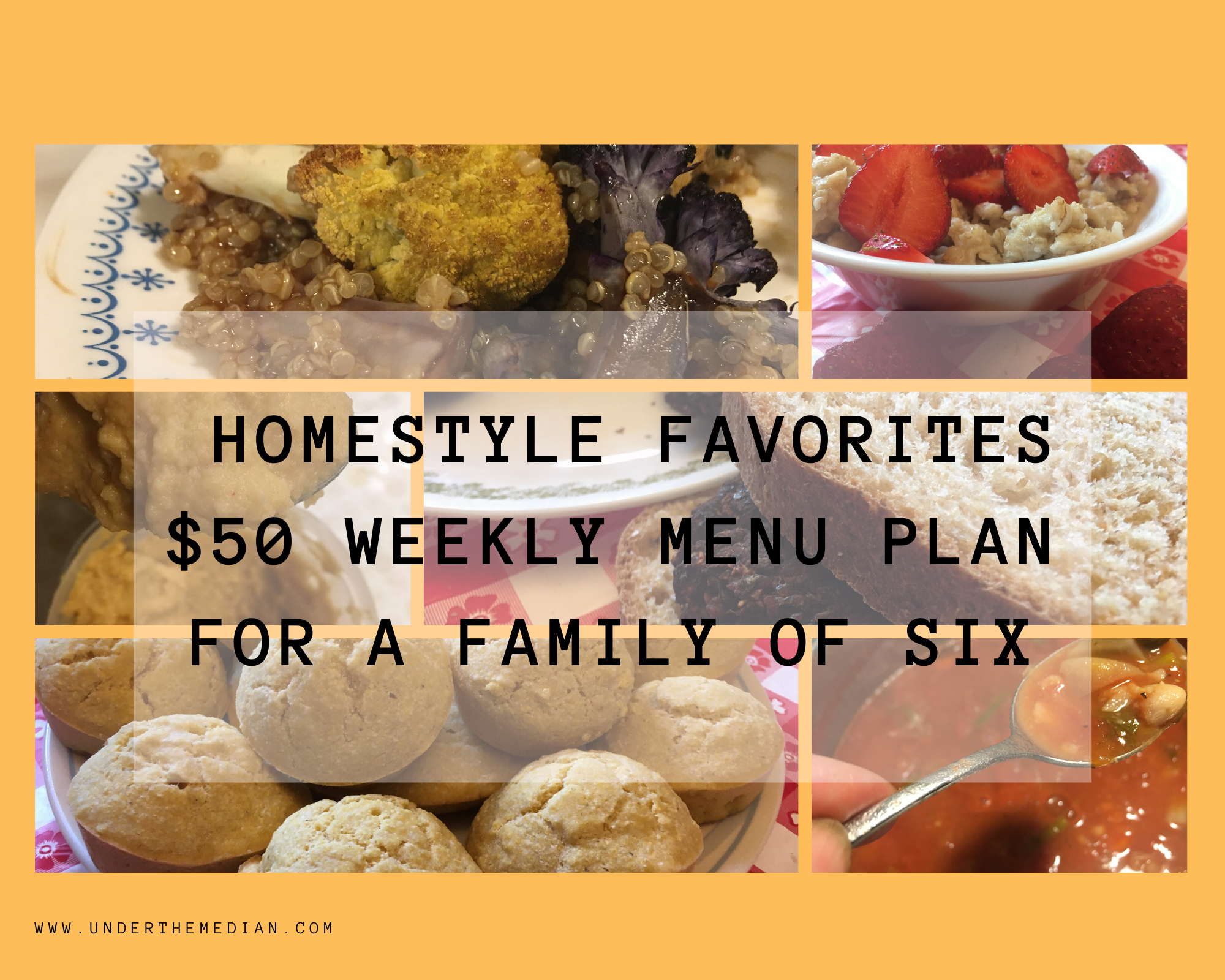 Homestyle Favorites: $50 Weekly Menu Plan for a Family of 6