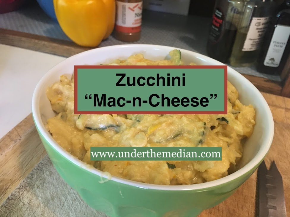 "Plant-based, Dairy-free, Zucchini ""Mac-n-Cheese"""