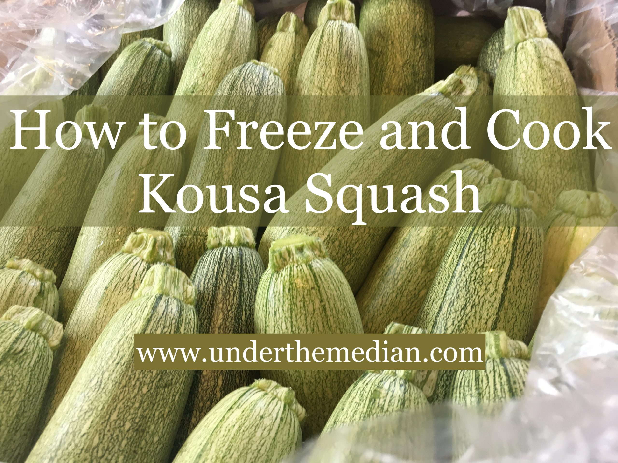 How to Freeze and Cook with Kousa Squash