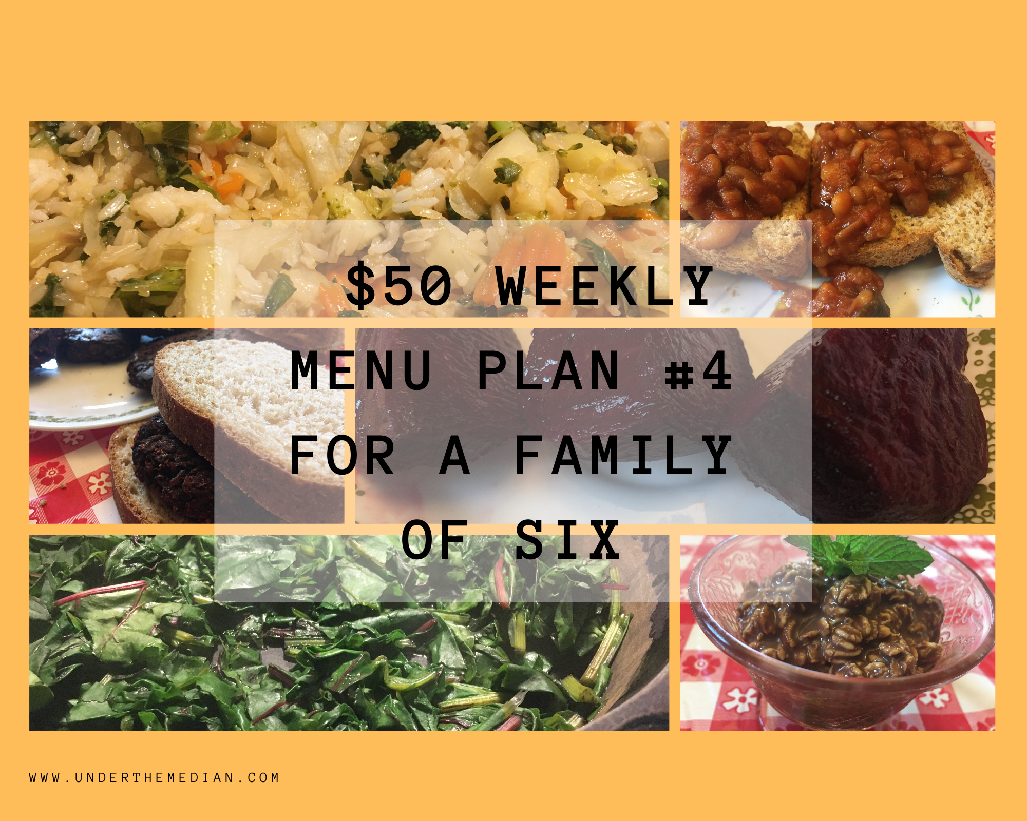 $50 Menu #4: Feeding a Family of 6 for a Week