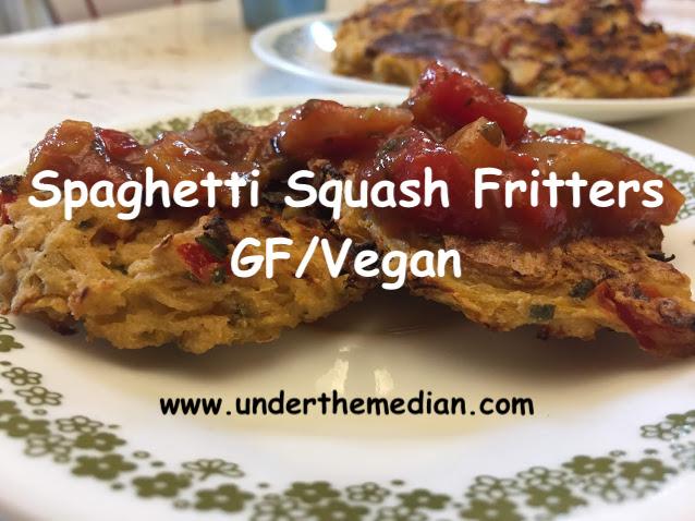 Spaghetti Squash Fritters (No-Oil/Vegan)