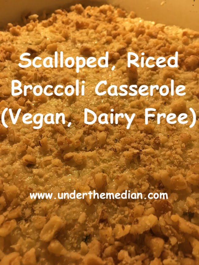 Scalloped, Riced Broccoli Casserole (Vegan, Dairy Free)