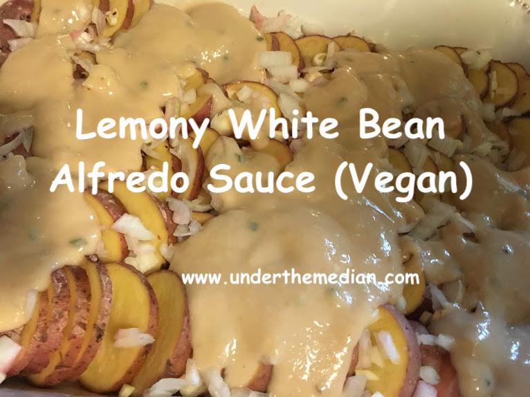 Lemony White Bean Alfredo Sauce (Vegan)