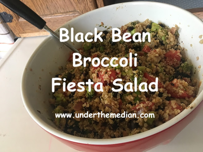 Colorful Broccoli Black Bean Fiesta Salad