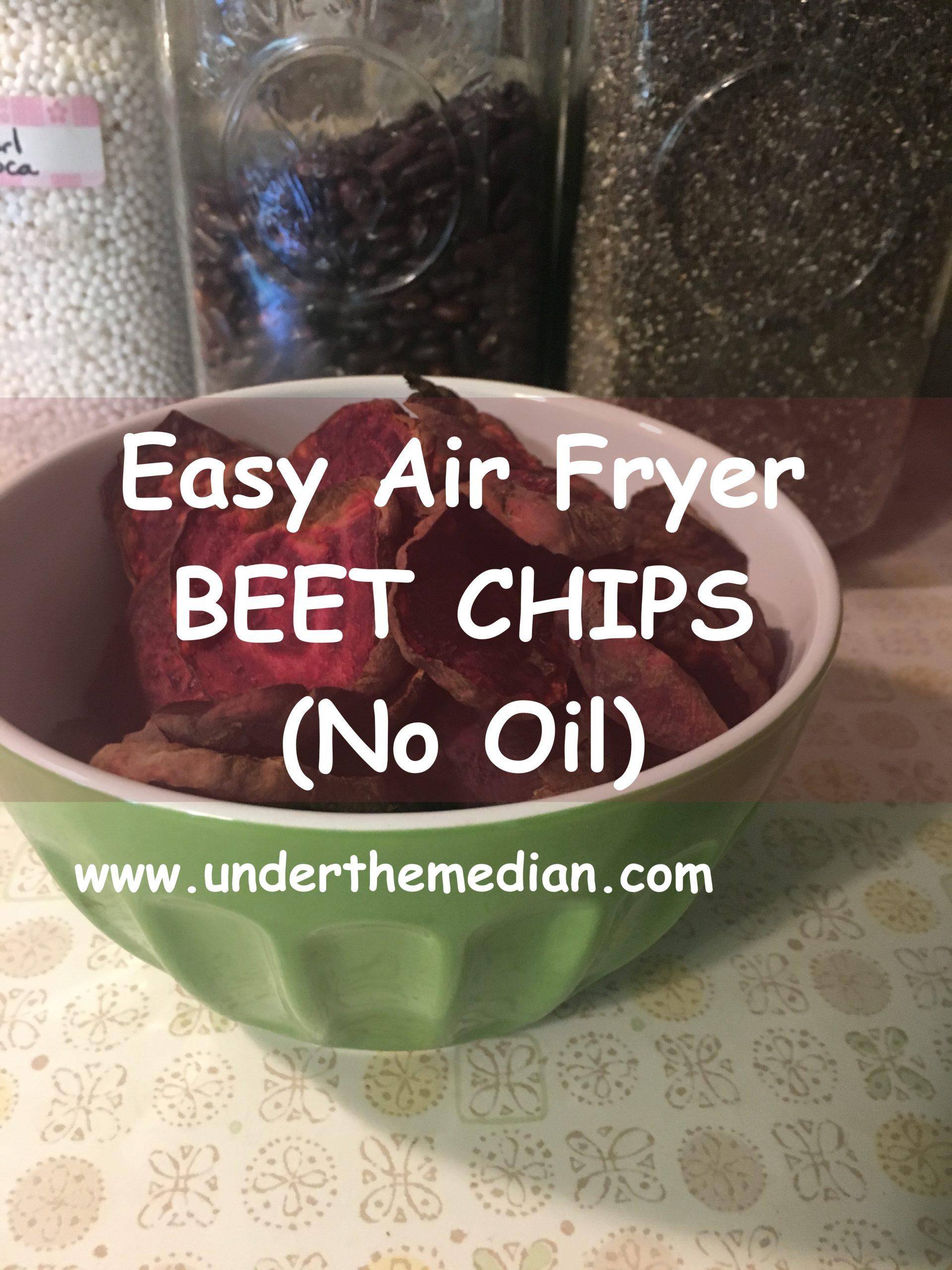 Easy Air Fryer Beet Chips (Oil-Free)