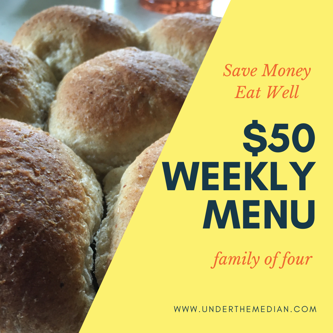 A Super Frugal $50 Weekly Menu That Won't Leave You Hungry