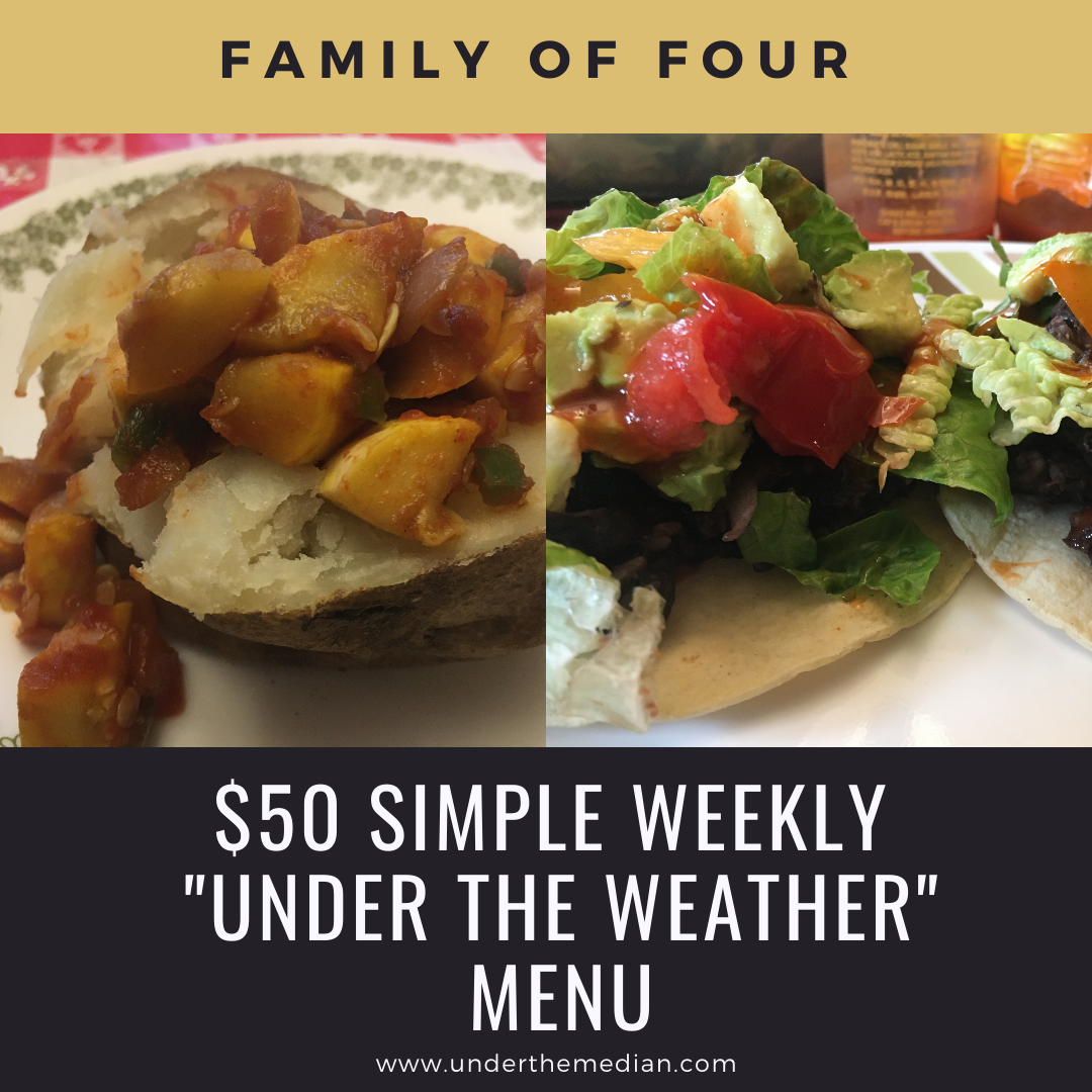 Quick Weekly Menu for When You are Under the Weather
